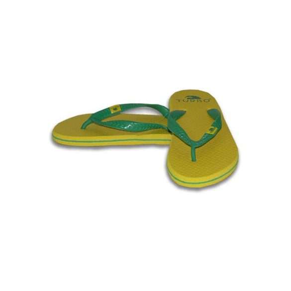 Badelatschen-SUMMER-gelb/grün