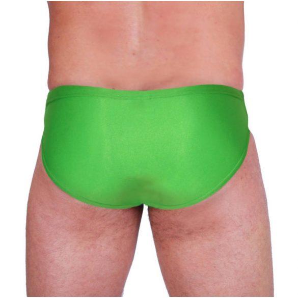 Herren Schwimmhose-lycra-grün/weiss