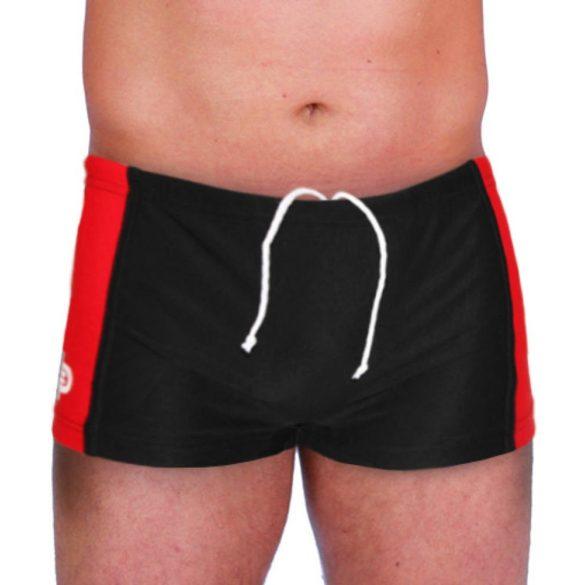 Herren Mini Boxer-schwarz/rot lycra