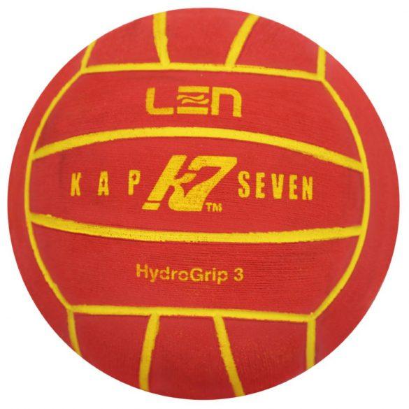 Wasserball-Kap7 Grösse 3-rot/gelb