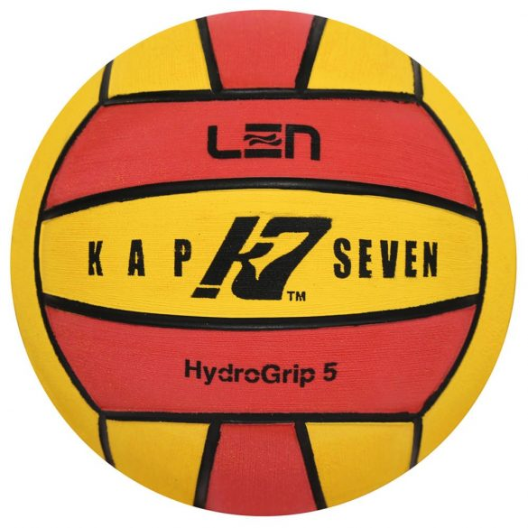Wasserball-Kap7 Grösse 5-gelb/rot