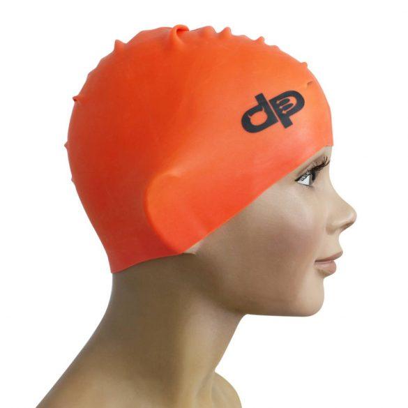 Schwimmkappe-silikon-orange