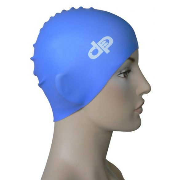 Schwimmkappe-DP silikon-navy blau