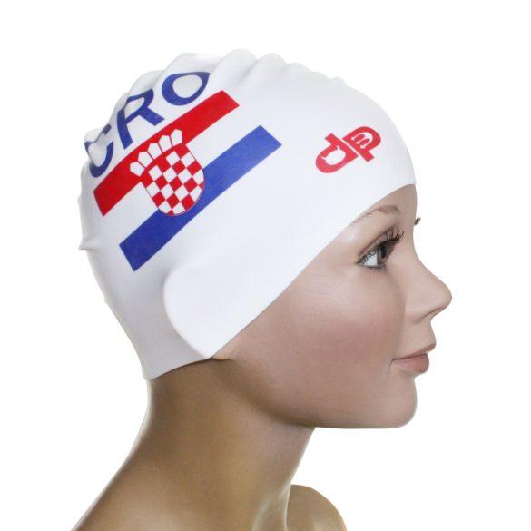 Schwimmkappe-Kroatien Fahne silikon