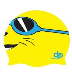 Schwimmkappe - Gelb Smiley Kinder silikon