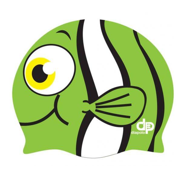 Schwimmkappe-Nemo silikon-grün