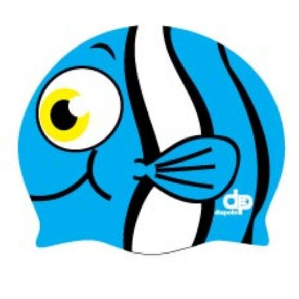 Schwimmkappe-Nemo silikon-blau