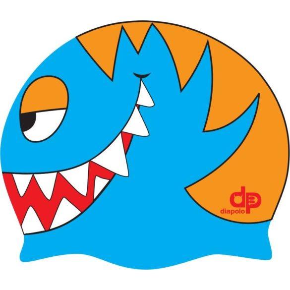 Schwimmkappe-Fisch silikon-navy blau/orange