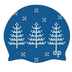 Schwimmkappe - Tanne royalblau