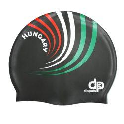 Schwimmkappe - HUN 3 design schwarz silikon
