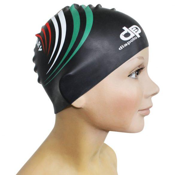 Schwimmkappe-HUN 3 design silikon-schwarz