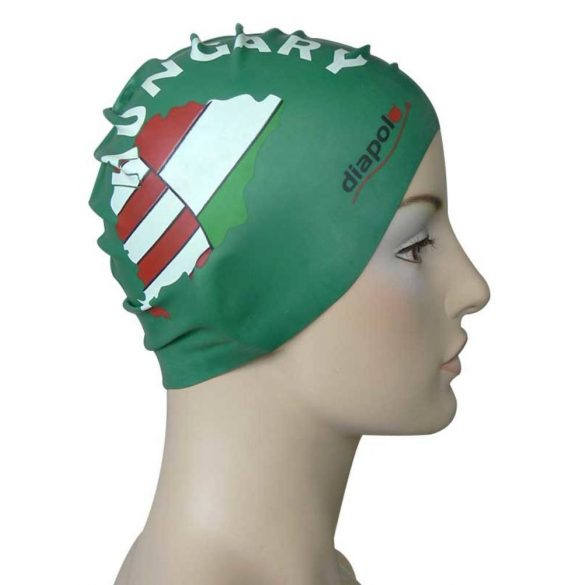 Schwimmkappe-HUN silikon-grün