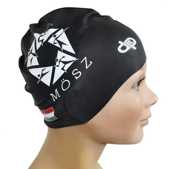 Schwimmkappe-MÖSZ silikon-schwarz