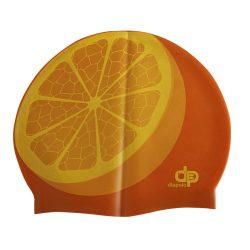Schwimmkappe - Smile orange silikon