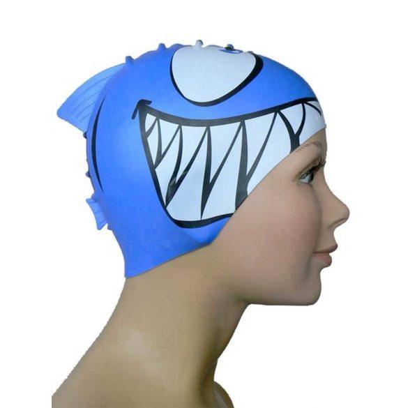 Schwimmkappe-Shark silikon-königsblau