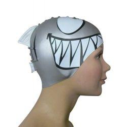 Schwimmkappe - Shark silver silikon