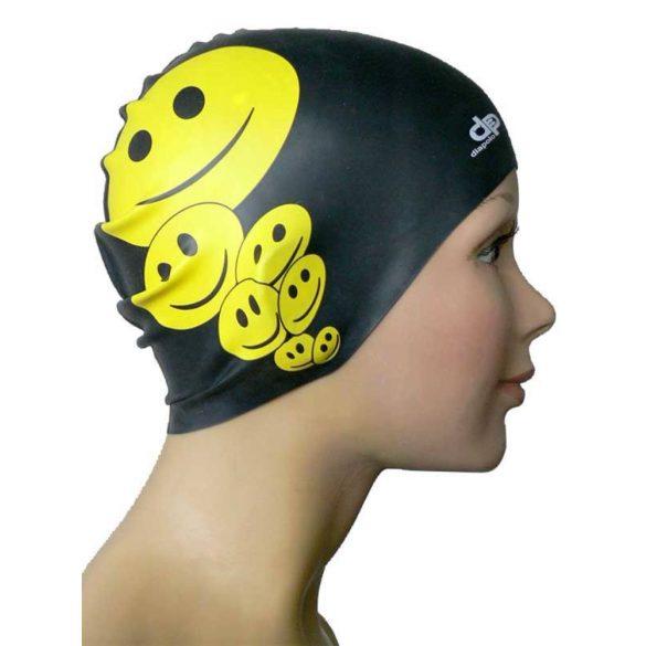Schwimmkappe-Lächeln silikon-schwarz