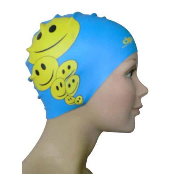 Schwimmkappe-Lächeln silikon-blau
