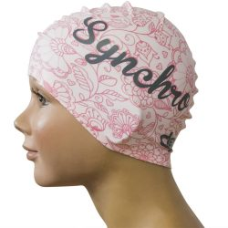 Schwimmkappe-Blumen Syncro silikon-pink