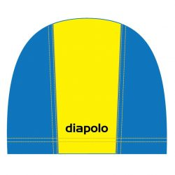 Schwimmkappe - gelb-royalblau lycra