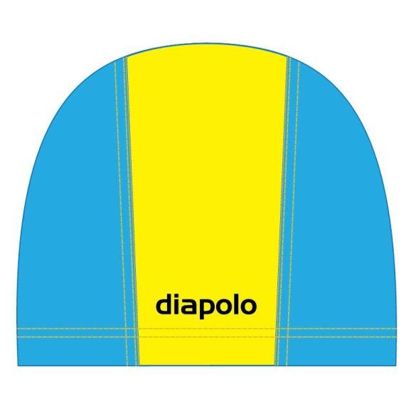 Schwimmkappe-gelb/navy blau lycra