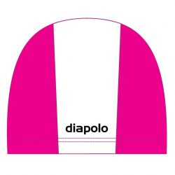 Schwimmkappe - weiss-pink lycra
