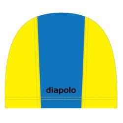 Schwimmkappe - royalblau-gelb lycra