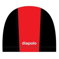 Schwimmkappe - rot-schwarz lycra