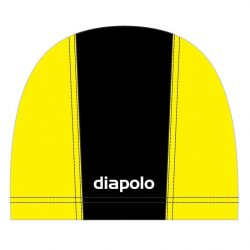 Schwimmkappe - schwarz-gelb lycra