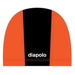 Schwimmkappe - schwarz-orange lycra