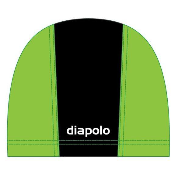 Schwimmkappe-schwarz/hellgrün lycra