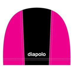 Schwimmkappe - schwarz-pink lycra