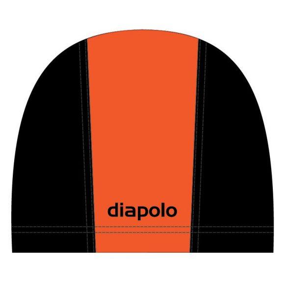 Schwimmkappe-orange/schwarz lycra