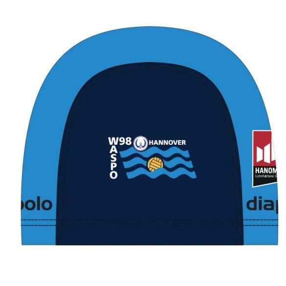 Waspo Hannover-Blau Lycra Schwimmkappe