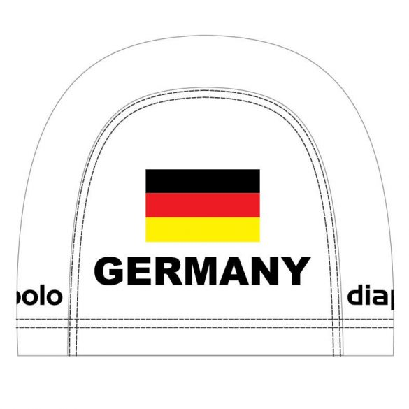 Schwimmkappe-Germany1 lycra-weiss