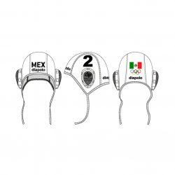 Mexiko-Wasserballkappe-weiss