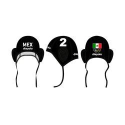 Mexiko-Wasserballkappe-schwarz