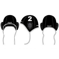 Wasserball kappe-schwarz