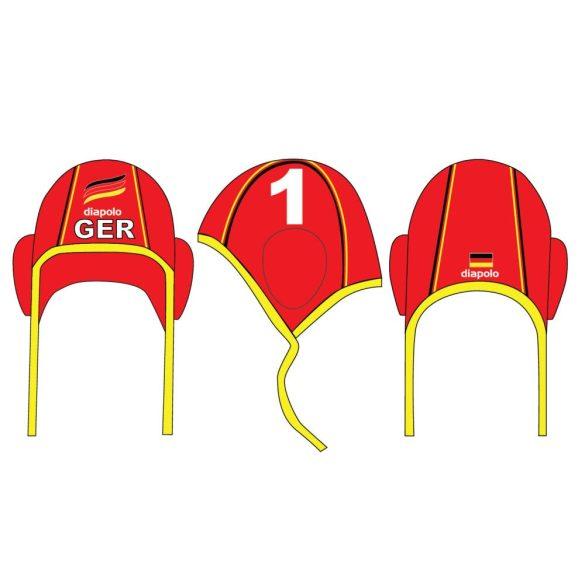 Deutsche Wasserball Nationalmannschaft-Wasserballkappe Tormann-rot