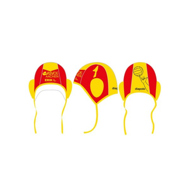 ASV06 AACHEN waterpolo cap red and yellow