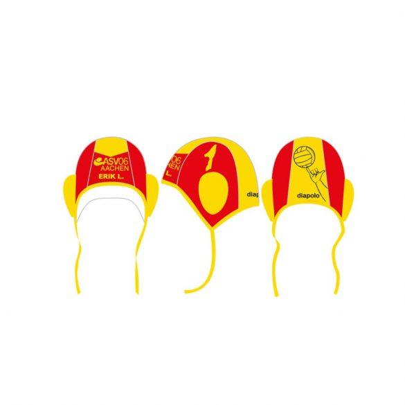 ASV06 AACHEN-Wasserballkappe-rot/gelb