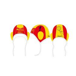 ASV06 AACHEN - Wasserballkappe rot-gelb mit Nummer
