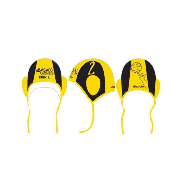 ASV06 AACHEN waterpolo cap black and yellow