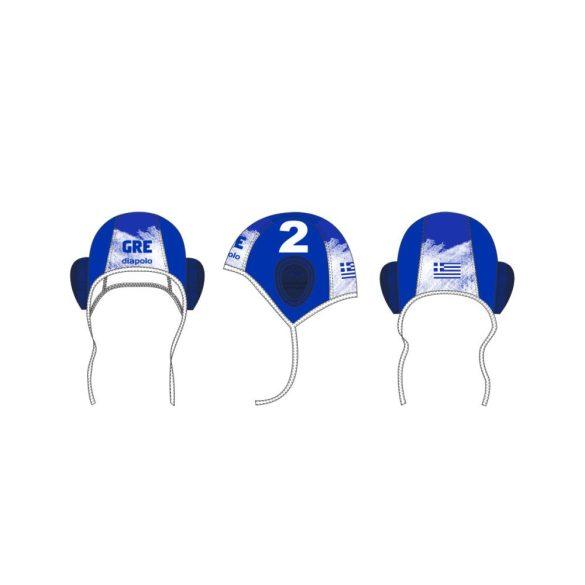 Griechische Wasserball Nationalmannschaft-Wasserballkappe-blau