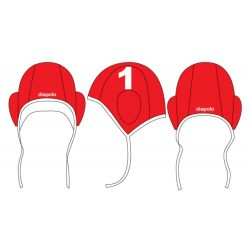 Wasserball Kappe - Rot-weiss
