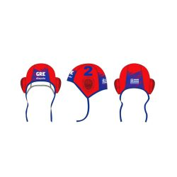 Griechische Wasserball Nationalmannschaft - Wasserballkappe rot-blau