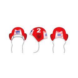 Griechische Wasserball Nationalmannschaft-Wasserballkappe-rot/weiss