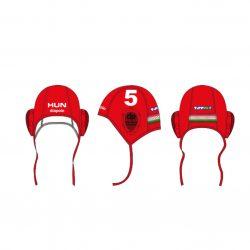 Ungarische Wasserball-Nationalmannschaft - Wasserballkappe rot-weiss