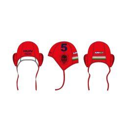 Ungarische Wasserball-Nationalmannschaft - Wasserballkappe rot-blau