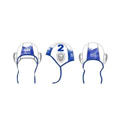 Griechische Wasserball Nationalmannschaft-Wasserballkappe-weiss